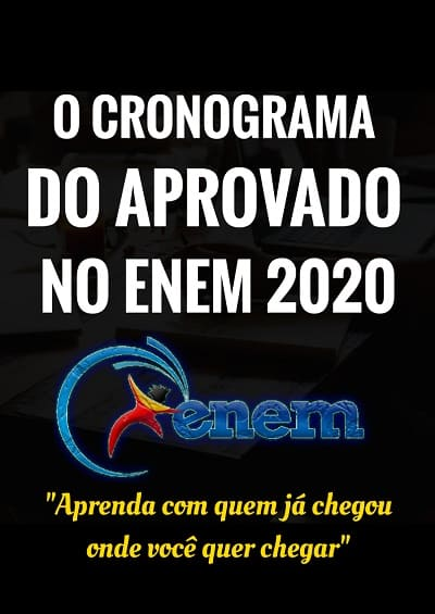O Cronograma do Aprovado no ENEM 2020