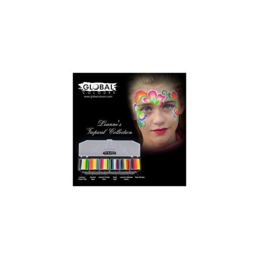 Paleta para trasos 6 compartimientos, donde tu seleccionas el color que quieres para tu paleta, al hacer tu compra nos haces la lista de colores para incluir en ella ARTE CORPORAL GLOBAL | PALETA PARA TRASOS 6 COLORES A ELEGIR