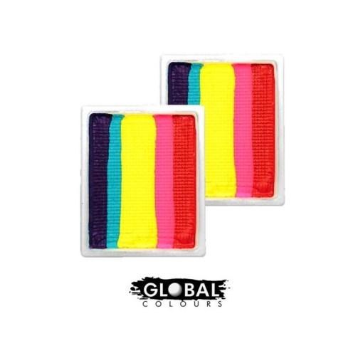 Arte corporal global | Recambio de movimiento divertido - Leanne's Rainbow Neon LC  Obten colores extras para tu paleta de colores, donde tu misma puedes reponer los colores que ya se te terminaron RECARGA DE PINTURA COLOR LEANNE'S RAINBOW NEON