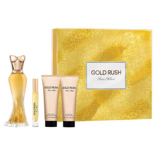 <a>PARIS HILTON GOLD RUSH 4 PZAS</a> PARIS HILTON GOLD RUSH 4 PZAS (D) SET