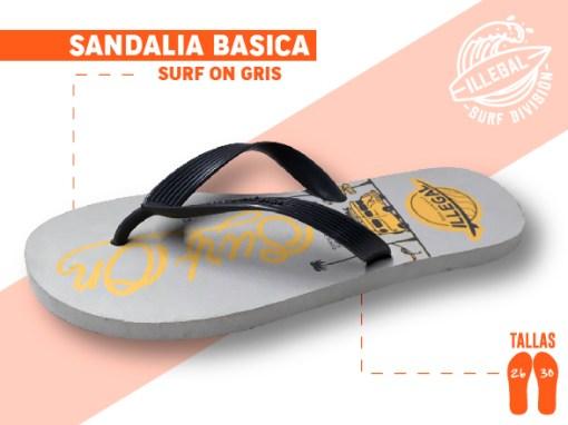 <b>SANDALIA MARCA ILEGAL</b>  <b>PARA CABALLERO</b>  <b>TALLAS DEL 26 A 30 CM</b>  <b>PRECIO ESPECIAL A MAYORISTAS</b>  <b>mayoreo@comprastodo.com</b>  <b>SOMOS FABRICANTES</b> Sandalia Surf On Gris