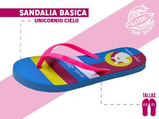 <b>SANDALIA MARCA ILEGAL</b>  <b>PARA MUJER</b>  <b>TALLAS DEL 22 al 27 CM</b>  <b>PRECIO ESPECIAL A MAYORISTAS</b>  <b>mayoreo@comprastodo.com</b>  <b>SOMOS FABRICANTES</b> Sandalia Unicornio Cielo