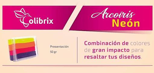 colibrix ARCOIRIS NEÓN Colibrix <ul>  <li>Amarillo Huevo</li>  <li>Fiucsa Oscuro</li>  <li>Fiucsa Claro</li>  <li>Morado</li> </ul> Arcoiris Neon Colibrix 50g