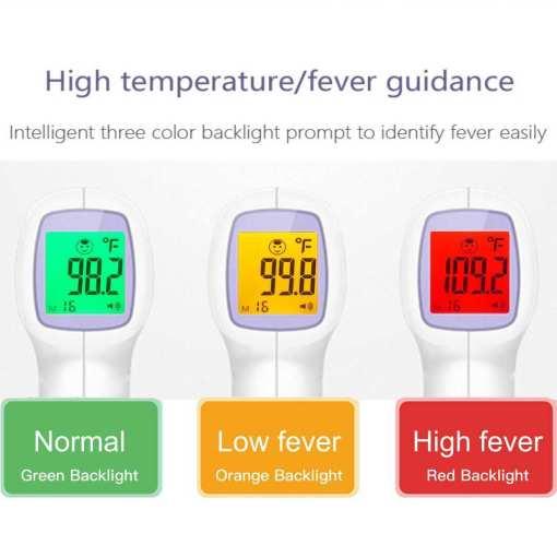 """infrarojo <h2 class=""""product_title entry-title show-product-nav"""">Termometro infrarojo</h2> <strong>Características:</strong> <ul>  <li>Medición rápida de la temperatura: tiempo de medición <1 segundo.</li>  <li>Alarma de temperatura: el usuario puede configurar libremente la temperatura de la alarma según su propia situación.</li>  <li>Vida ultra larga: instale 2 baterías AA, puede usarse más de 100,000 veces, y la vida útil del producto es> 3 millones de veces.</li>  <li>Medición de temperatura en modo dual: puede medir la temperatura del cuerpo humano / temperatura del material / temperatura del agua / temperatura ambiente.</li>  <li>Medición infrarroja: solo mide la señal de radiación infrarroja emitida por el cuerpo humano y no toca la piel humana, que es inofensiva para el cuerpo humano.</li> </ul> Termometro infrarojo yobekan"""