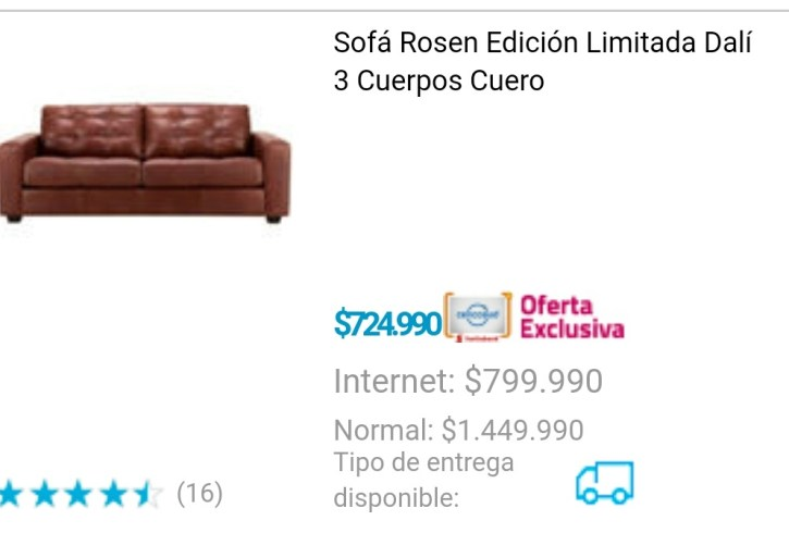 Sofa rosen 3 cuerpo cuero - Image 2
