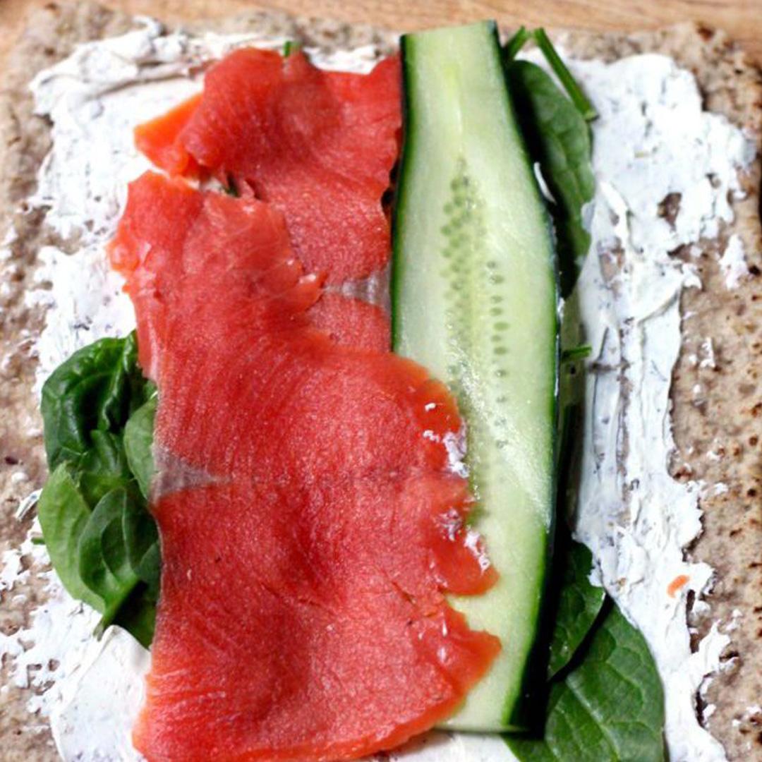 salmon lavash wrap
