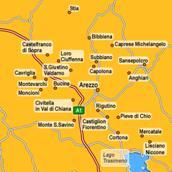 Mappa del Casentino