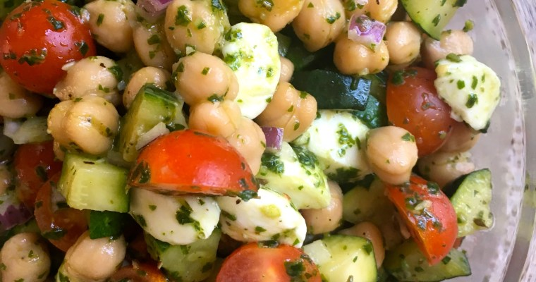 Pesto Chickpea Salad