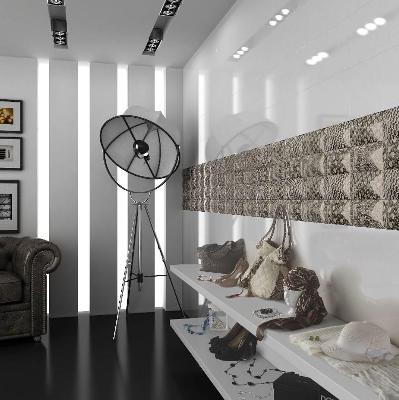 carrelage mural 20x60 akrom blanc brillant ou mat saloni