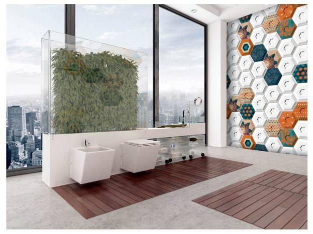 carrelage mural hexagonal a relief 3d