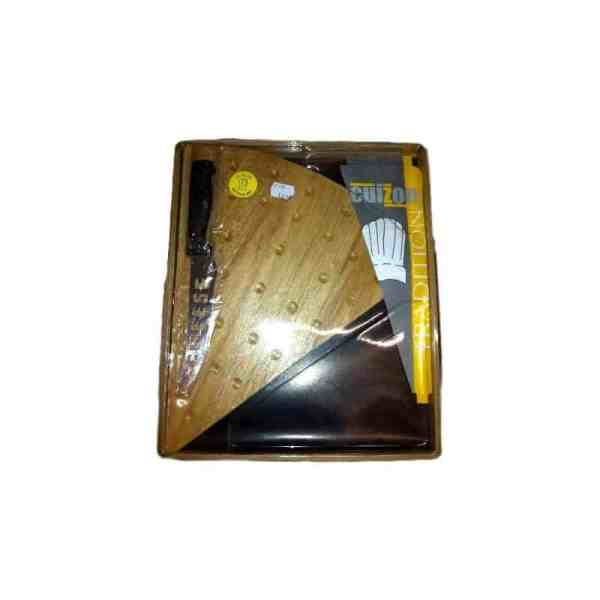 Planche à fromage en bois avec son couteau