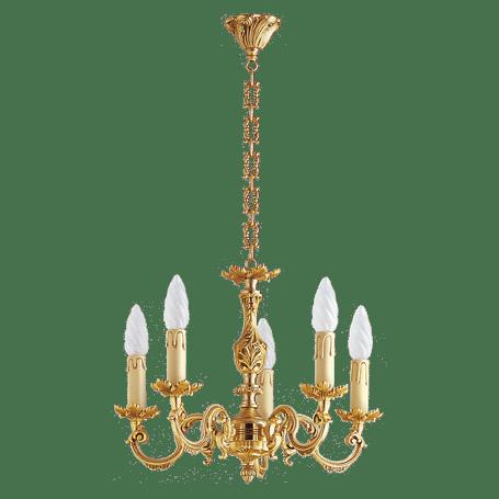 lustre bronze style louis xv 5 lampes maison lucien gau