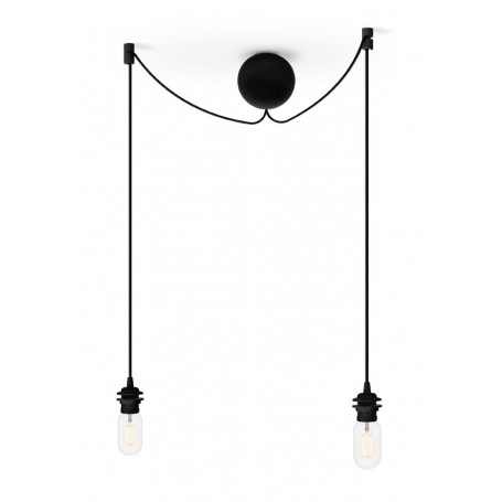 kit de suspension 2 lampes cannonball noir umage vita copenhagen