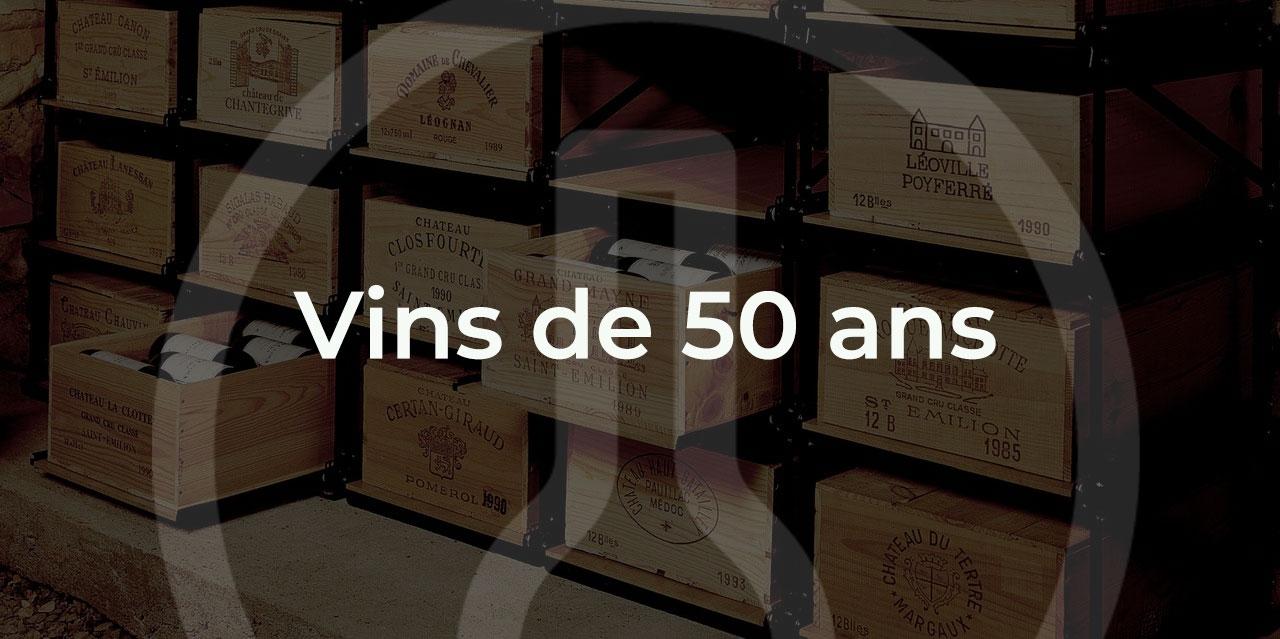 offrir un vieux vin de 50 ans