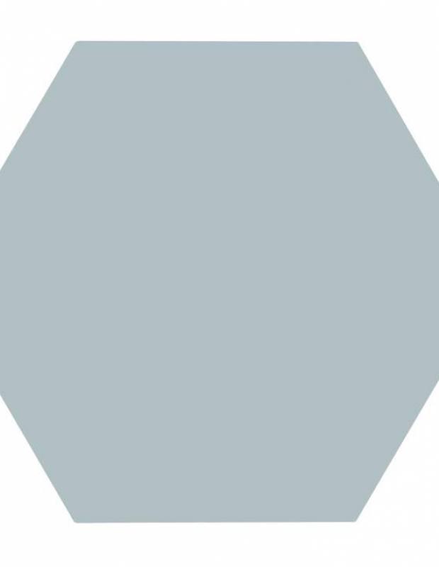 carrelage uni hexagonal vert eau en gres cerame de 10 mm d epaisseur