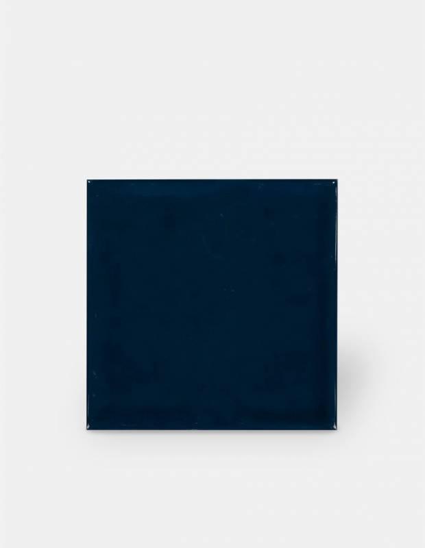 carrelage 15 x 15 cm martele bleu marine a effet artisanal lu7404057