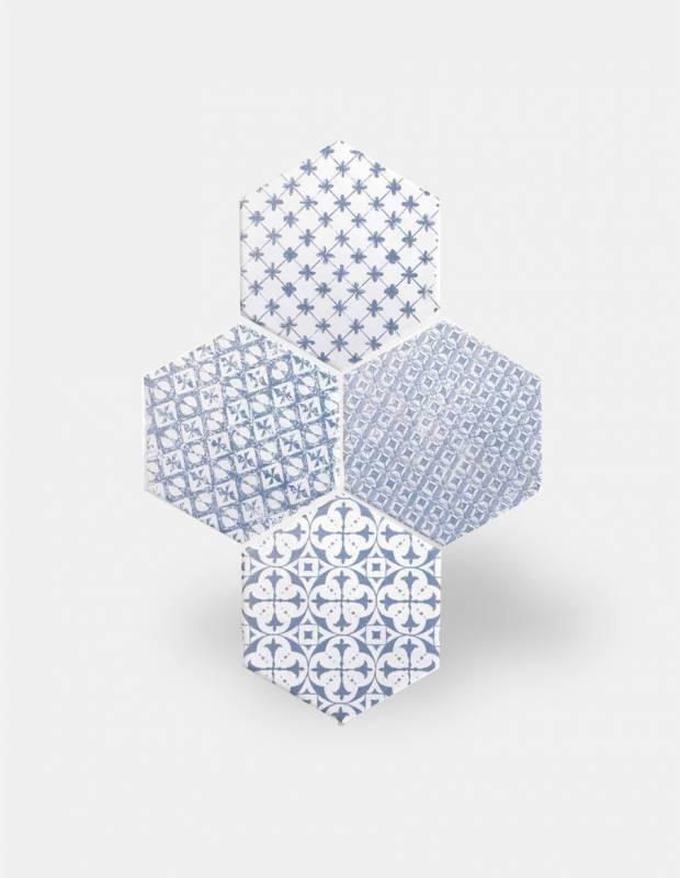 carrelage hexagonal mat bleu 15 x 15 cm he0811010