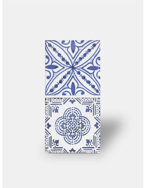 carrelage mural azulejo bleu style artisanal li3502001
