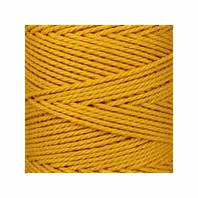 Macramé - corde - ficelle - coton- cordon - fil 2,5mm - jaune safran - vendu au mètre