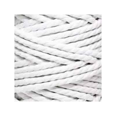 Macramé - corde - ficelle - coton - blanc- cordon - fil 7mm - vendu au mètre