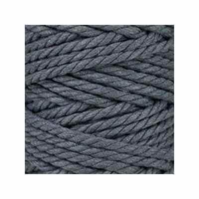 Macramé - corde - ficelle - coton - gris ardoise - cordon - fil 7mm - vendu au mètre