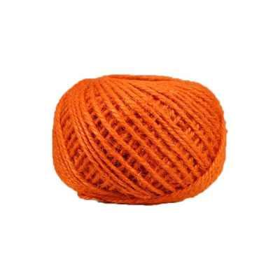 Corde - ficelle de jute- fil de 2mm - orange - macramé - crochet - bijouterie -décoration -bricolage - art floral
