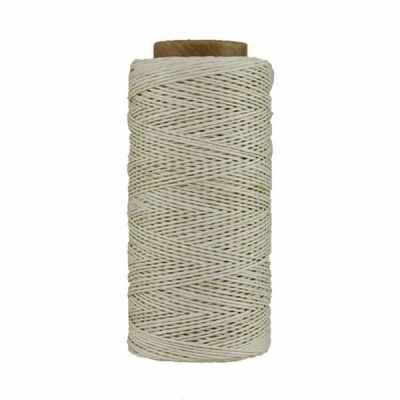 Fil de lin ciré - Blanc - Bobine 100% lin - Micro-macramé, bijoux, couture, reliure, maroquinerie