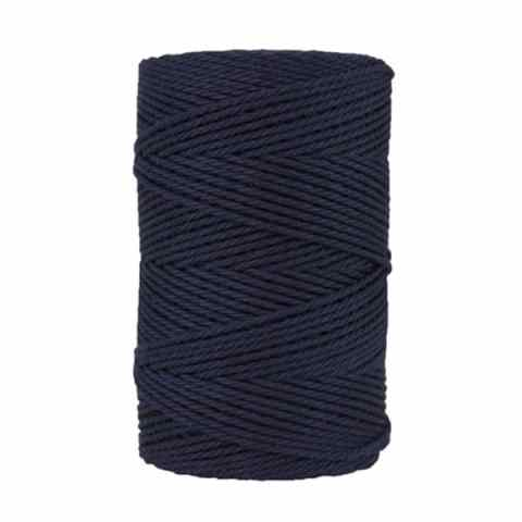 Macramé - corde - ficelle - coton- cordon - fil 2,5mm - bleu marine
