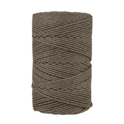 Macramé - corde - ficelle - coton- cordon - fil 2,5mm - taupe