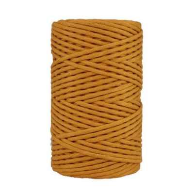 Cordon - corde - coton peigné- fil de 4mm - jaune safran - macramé - crochet - tricot - tissage