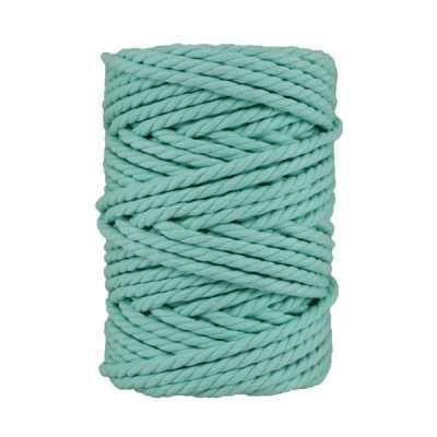 Macramé - corde - ficelle - coton- cordon - fil 7mm - bleu aigue marine