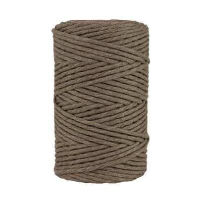 Cordon - corde - coton peigné- fil de 4mm - taupe - macramé - crochet - tricot - tissage