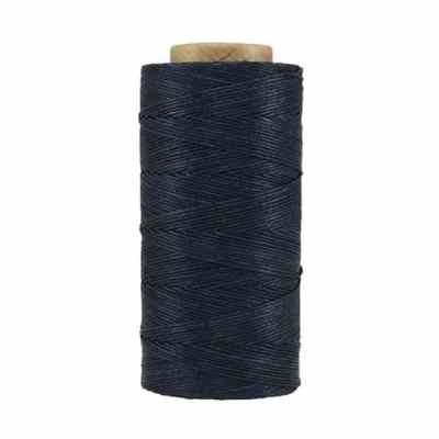 Fil de lin ciré - Bleu marine - Bobine 100% lin - Micro-macramé, bijoux, couture, reliure, maroquinerie