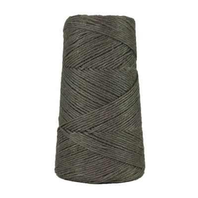 Fil de lin rustique - Gris acier - 2 mm - Bobine - Ficelle - Macramé, tricot, crochet