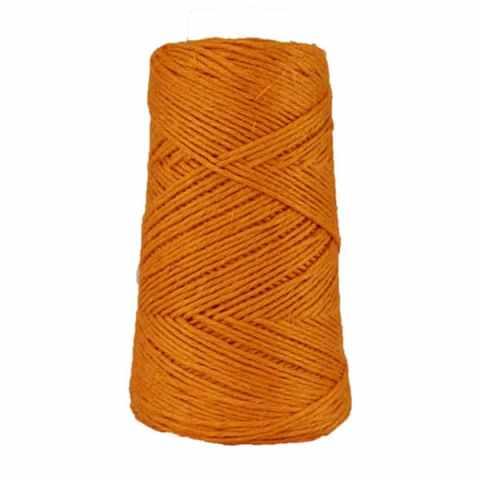 Fil de lin rustique -Mandarine - 2 mm - Bobine - Ficelle - Macramé, tricot, crochet