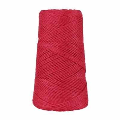 Fil de lin rustique -2 mm - Bobine - Ficelle - Rouge framboise - Macramé, tricot, crochet