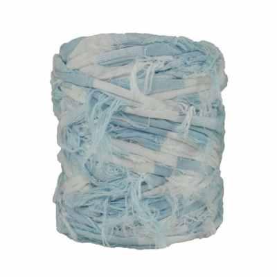 B-019 - Bobine de trapilho - Effiloché bleu blanc