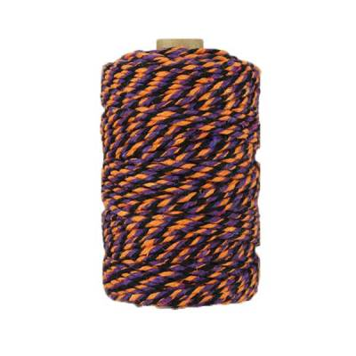 Ficelle Baker Twine - 2mm - Orange violet noir