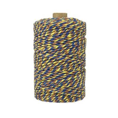 Ficelle Baker Twine - 2mm - jaune bleu marron