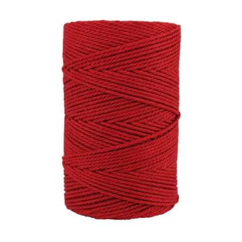 Macramé - corde - ficelle - coton- cordon - fil 2,5mm - Rouge cramoisi