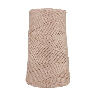 Cordon - corde - coton peigné suprême - fil de 2mm - Rose fané - macramé - crochet - tricot - tissage