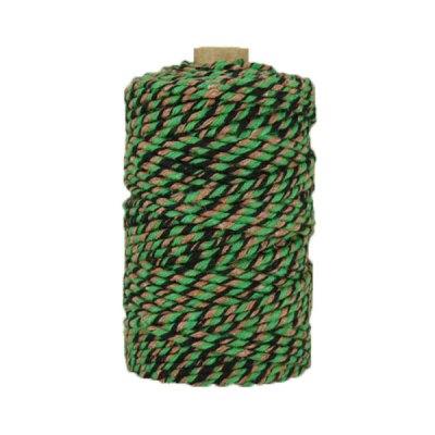 Ficelle Baker Twine - 3mm - Bobine - Vert/marron/noir
