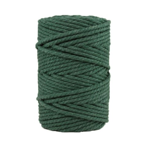 Corde macramé artisanale - Cordon - Ficelle - Fil de coton torsadé 4 mm - Vert sapin