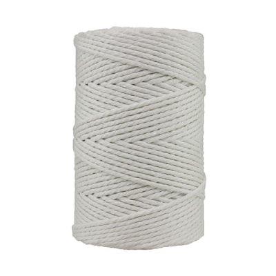 Corde macramé artisanale - Coton - Cordon - Ficelle - Fil 3 mm - Blanc