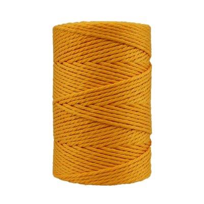 Corde macramé artisanale - Coton - Cordon - Ficelle - Fil 3 mm - Jaune d'or
