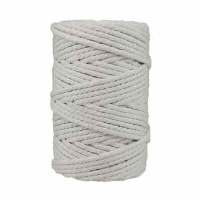 Corde macramé artisanale - Cordon - Ficelle - Fil de coton torsadé 4 mm - Blanc