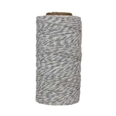 Fil de coton ciré - Gris et blanc