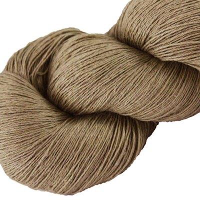 Fil de lin - Taupe - Tricot - Crochet