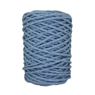 Cordon macramé - Bleu horizon