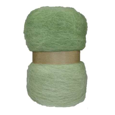 Laine cardée en nappe - Vert d'eau